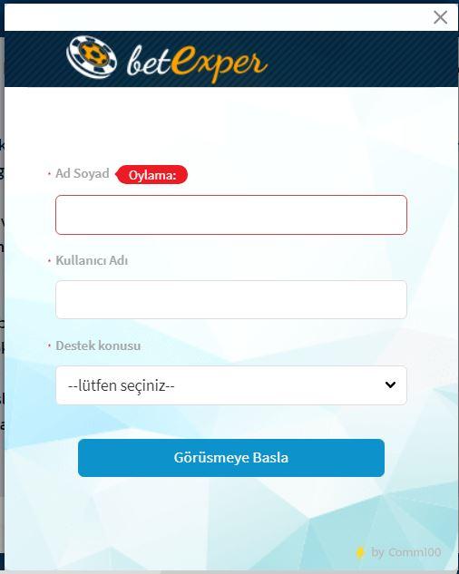 betexper iletişim